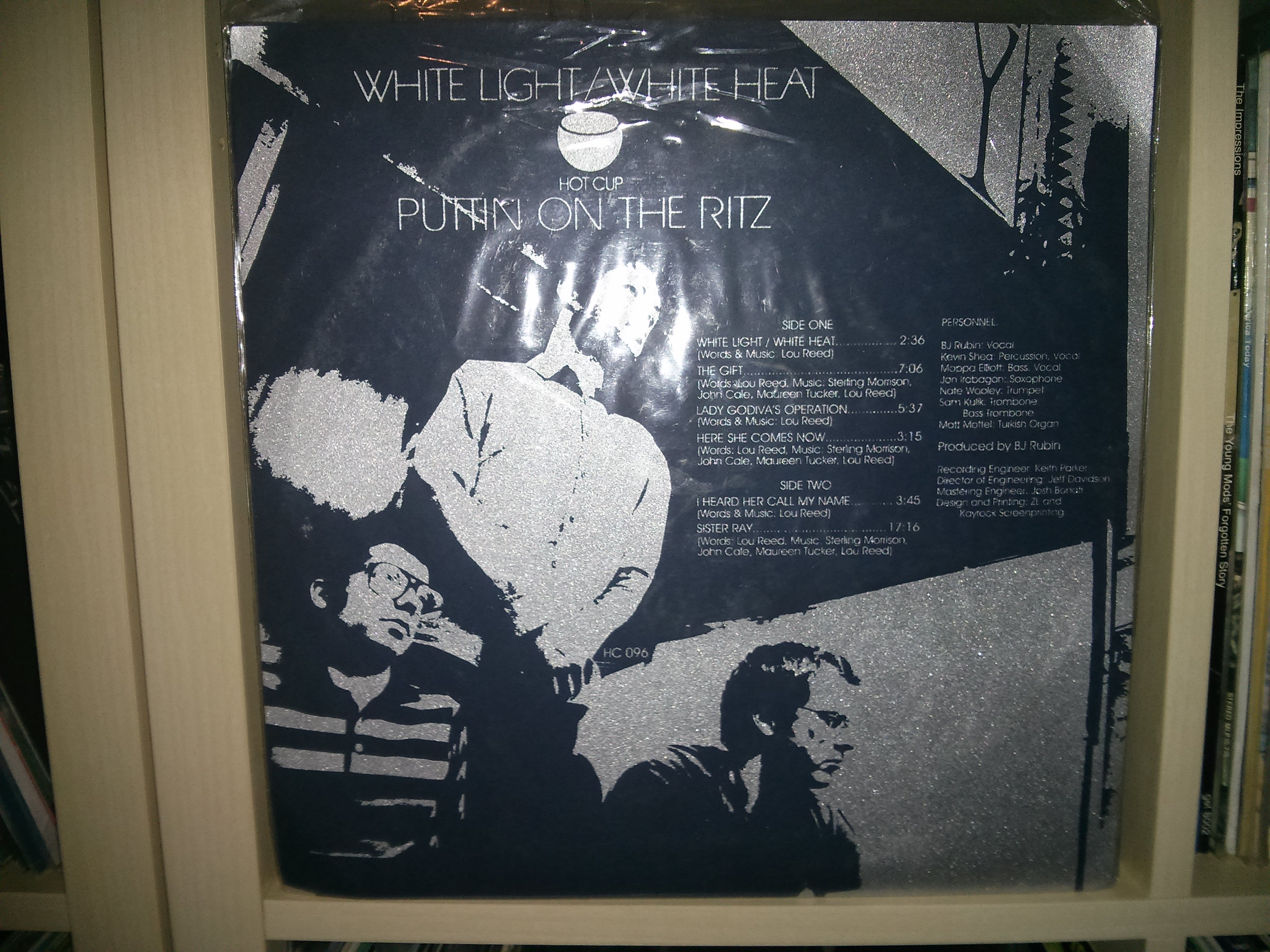 Putting On The Ritz - White Light / White Heat (glitterato 33 giri del 2010) Foto fatta da me.